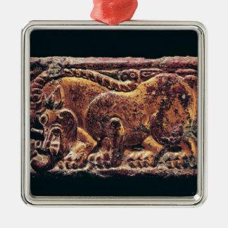 Placa del estilo de Ordos, 3ro-2do siglo A.C. Adorno Navideño Cuadrado De Metal