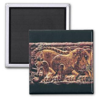 Placa del estilo de Ordos, 3ro-2do siglo A.C. Imán Cuadrado