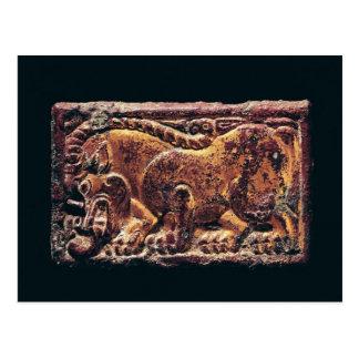 Placa del estilo de Ordos, 3ro-2do siglo A.C. Postal