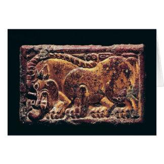 Placa del estilo de Ordos, 3ro-2do siglo A.C. Tarjeta De Felicitación