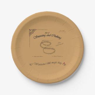 Placa del estornudo y de la obstrucción plato de papel