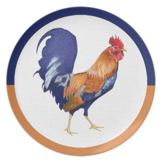 Placa del gallo platos