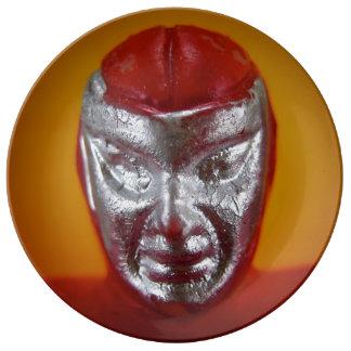Placa del luchador platos de cerámica