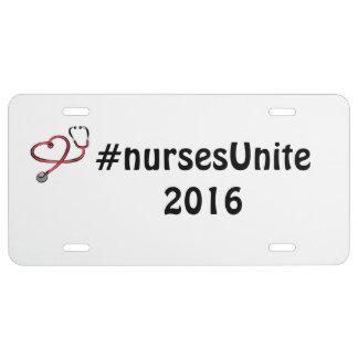Placa del #nursesUnite