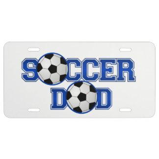 Placa del papá del fútbol