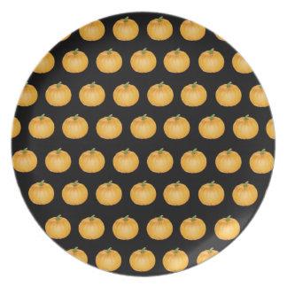 Placa del pastel de calabaza de la acción de graci plato para fiesta