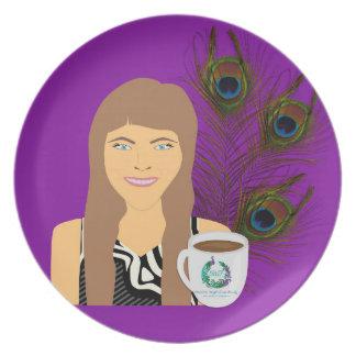 Placa del pavo real de Gail Plato