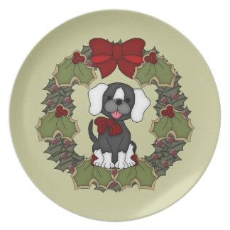 Placa del perro #1 del navidad plato