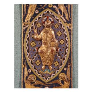 Placa del relicario que representa a Cristo Postal