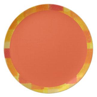 Placa del tango del verano de 4 estaciones platos
