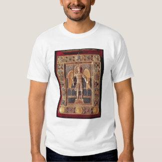 Placa esmaltada que representa el arcángel Michael Camisetas