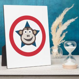 Placa estupenda del mono