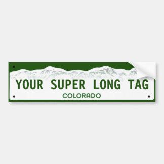 Placa Estupendo-ancha de encargo de Colorado Pegatina Para Coche