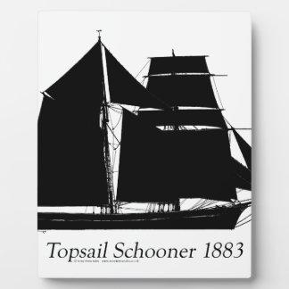 Placa Expositora 1883 schooner del topsail - fernandes tony