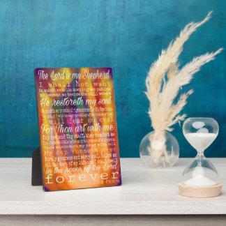 Placa Expositora 23ro salmo - forjado en el fuego