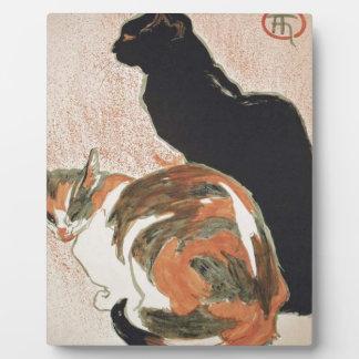 Placa Expositora Acuarela - 2 gatos - Théophile Alejandro Steinlen