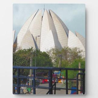 Placa Expositora Adoración de la casa de Nueva Deli la India Bahá'í