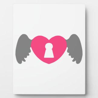 Placa Expositora Ala del corazón del ojo de la cerradura