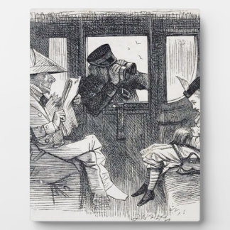 Placa Expositora Alicia en el tren