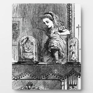 Placa Expositora Alicia en un espejo