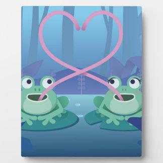 Placa Expositora amantes de la rana del día de San Valentín