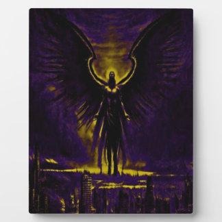 Placa Expositora Amarillo y púrpura angelicales del guarda