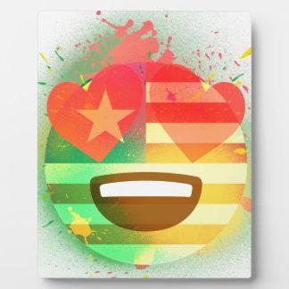 Placa Expositora Ame el arte de la pintura de aerosol de Emoji de