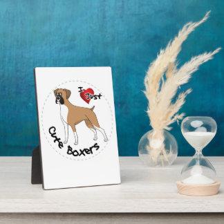 Placa Expositora Amo mi perro divertido y lindo adorable feliz del
