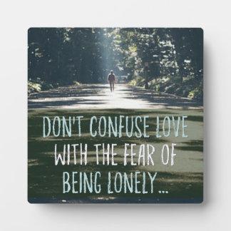 Placa Expositora Amor con el miedo