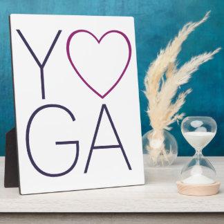 Placa Expositora amor de la yoga