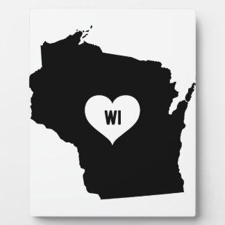 Placa Expositora Amor de Wisconsin