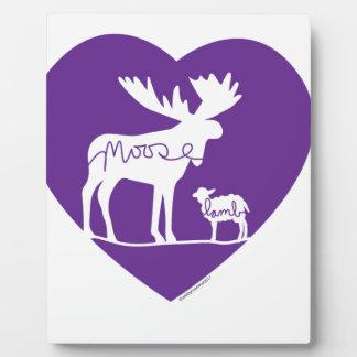 Placa Expositora Amor del cordero de los alces