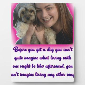 Placa Expositora Antes de que usted consiga un perro