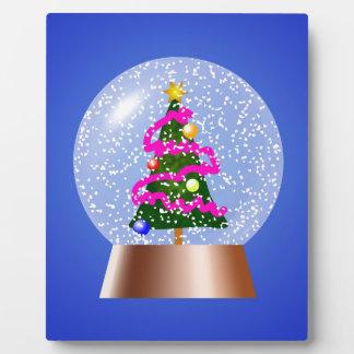 Placa Expositora Árbol de navidad Snowglobe cubierto en malla