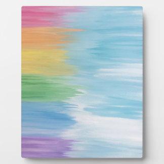 Placa Expositora Arco iris abstracto