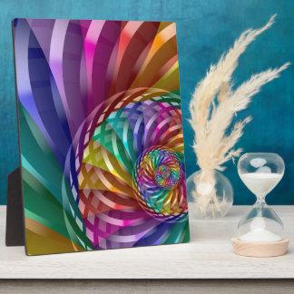 Placa Expositora Arco iris metálico