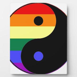 Placa Expositora Arco iris Yin y Yang - colores del arco iris del