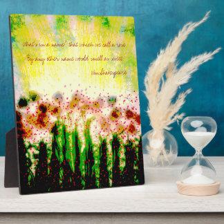 Placa Expositora Arte abstracto del paisaje del jardín