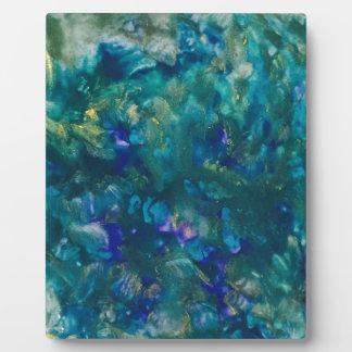 Placa Expositora Arte azul de la pintura del Watercolour