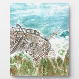 Placa Expositora Arte del barco de la ruina