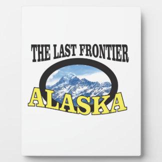 Placa Expositora arte del logotipo de Alaska