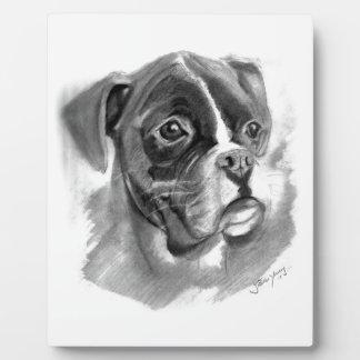 Placa Expositora Arte del perro del boxeador