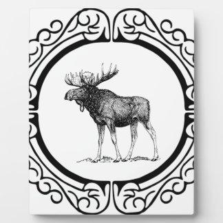 Placa Expositora arte grande de los alces del toro