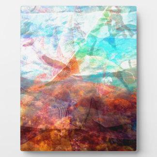 Placa Expositora Arte subacuático inspirador hermoso de la escena