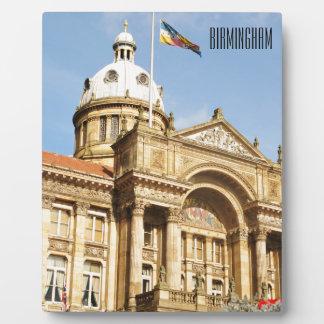 Placa Expositora Ayuntamiento en Birmingham, Inglaterra Reino Unido