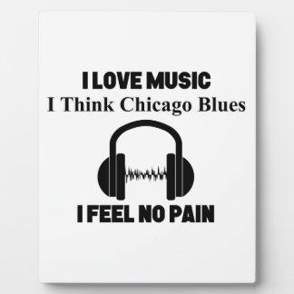 Placa Expositora Azules de Chicago