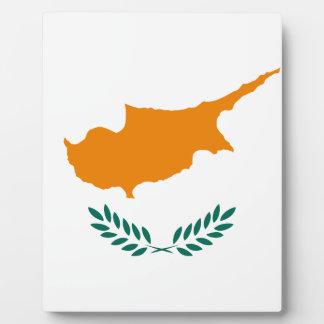 Placa Expositora ¡Bajo costo! Bandera de Chipre