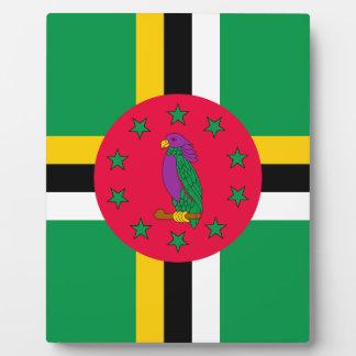 Placa Expositora ¡Bajo costo! Bandera de Dominica
