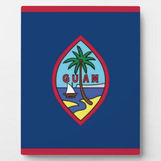 Placa Expositora ¡Bajo costo! Bandera de Guam