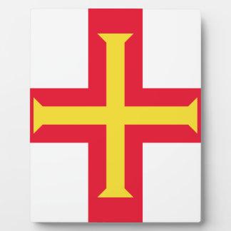 Placa Expositora ¡Bajo costo! Bandera de Guernesey